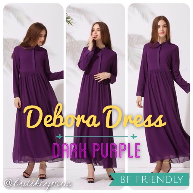 Butik Cymus Malaysia Online Hijab Shopping Debora Dress Nursing
