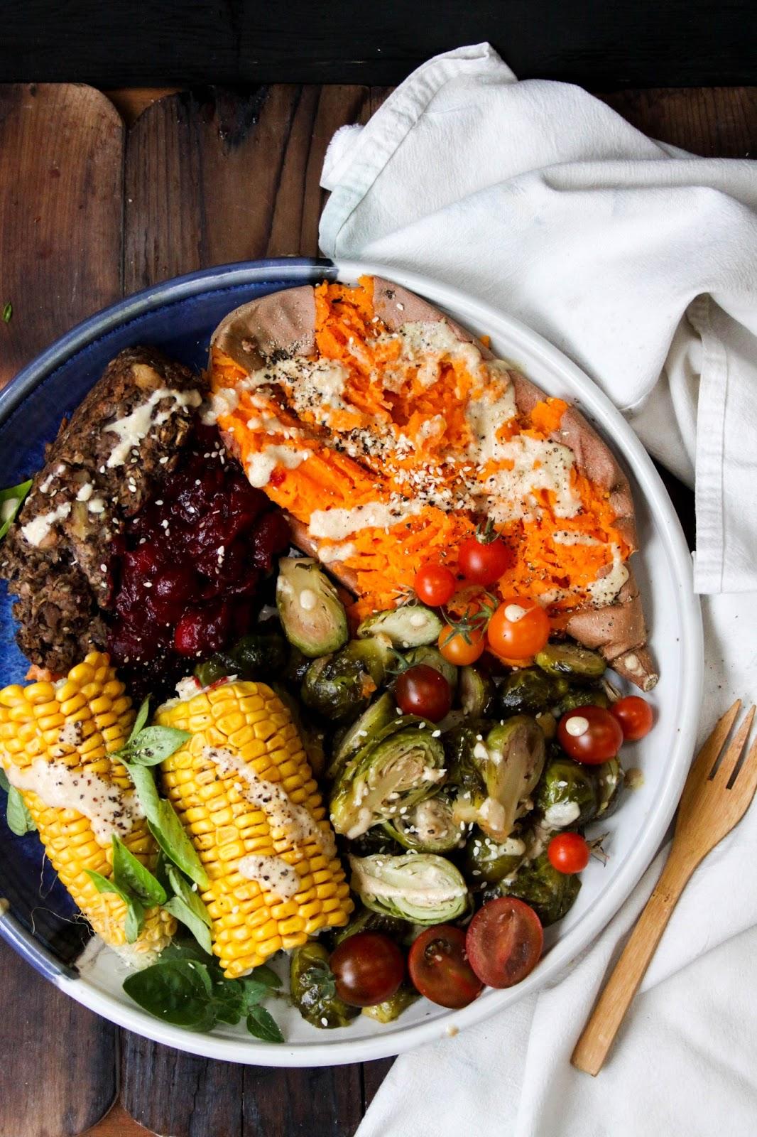 This Rawsome Vegan Life The Vegan Christmas Plate Baked Yams