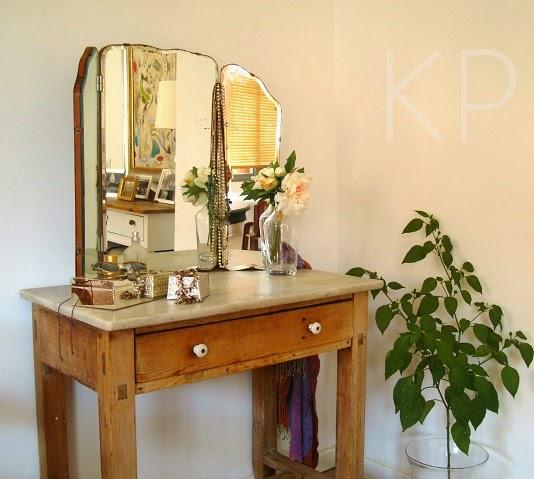 espejo triptico antiguo años 30 francés