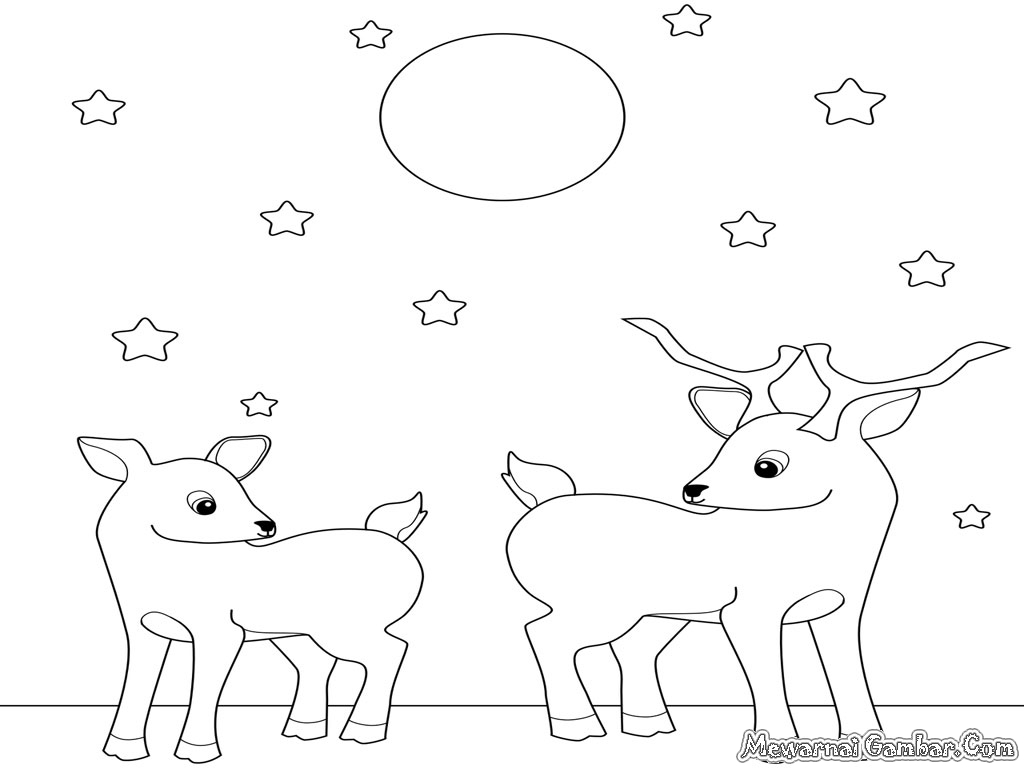 Free Coloring Pages Of Cute Baby Deer