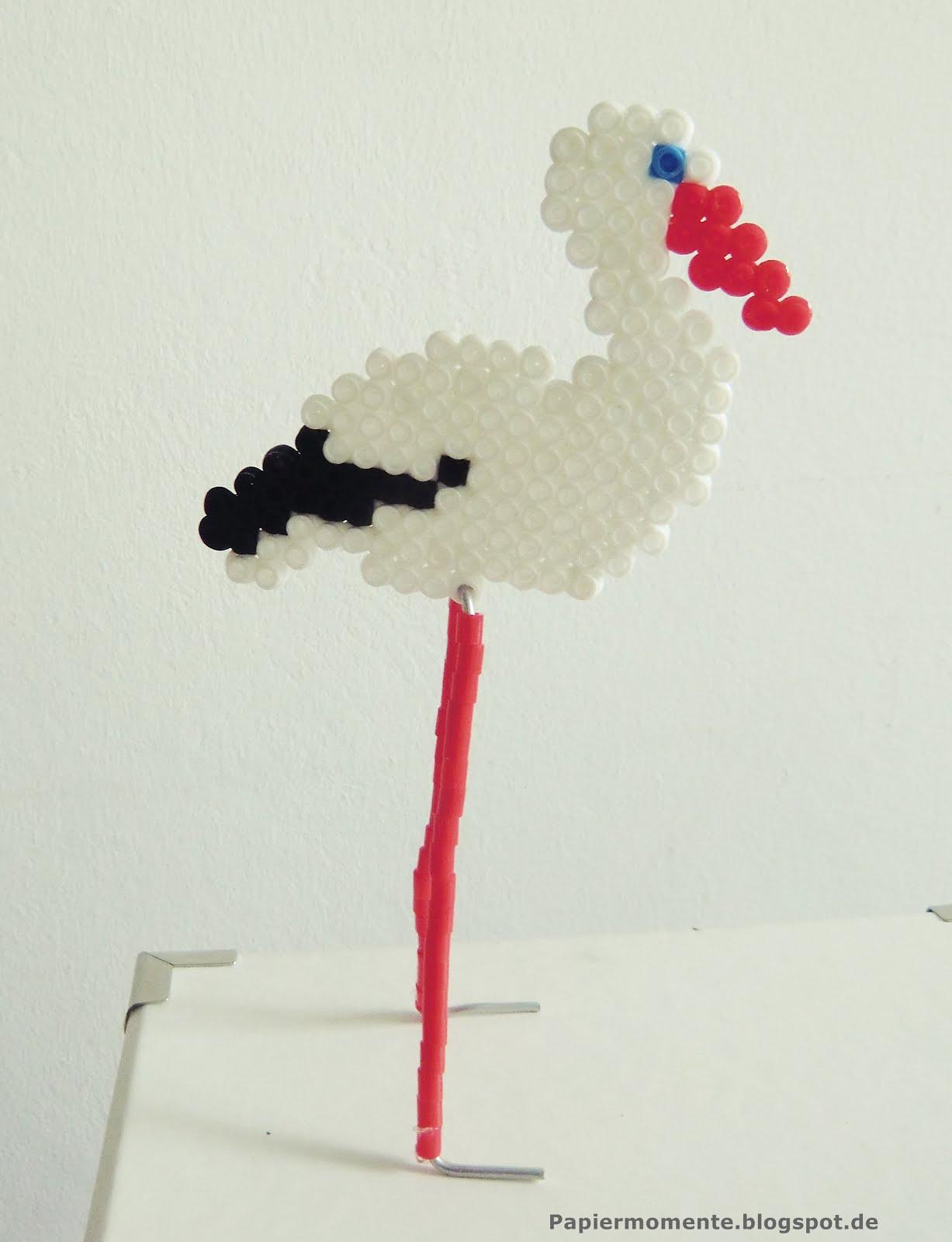 wiola 39 s papiermomente basteln mit b gelperlen storch. Black Bedroom Furniture Sets. Home Design Ideas