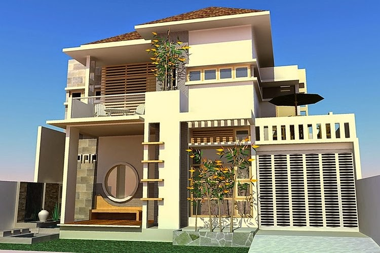 Foto Rumah Modern 2 Lantai Minecraft