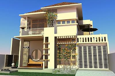 Contoh Desain Rumah Minimalis 2 Lantai Terbaru 2015