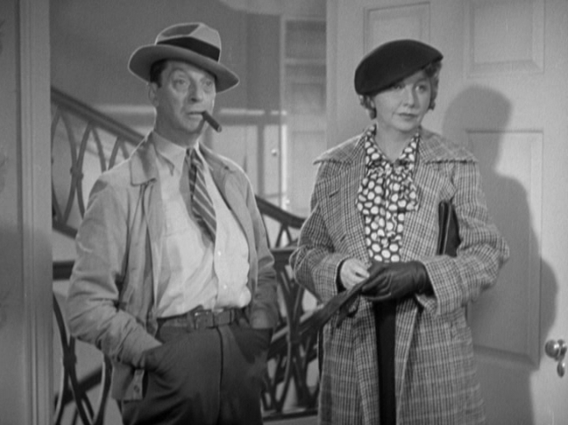 Screen cap of Ned Sparks and Helen Broderick looking like a disgruntled married couple.