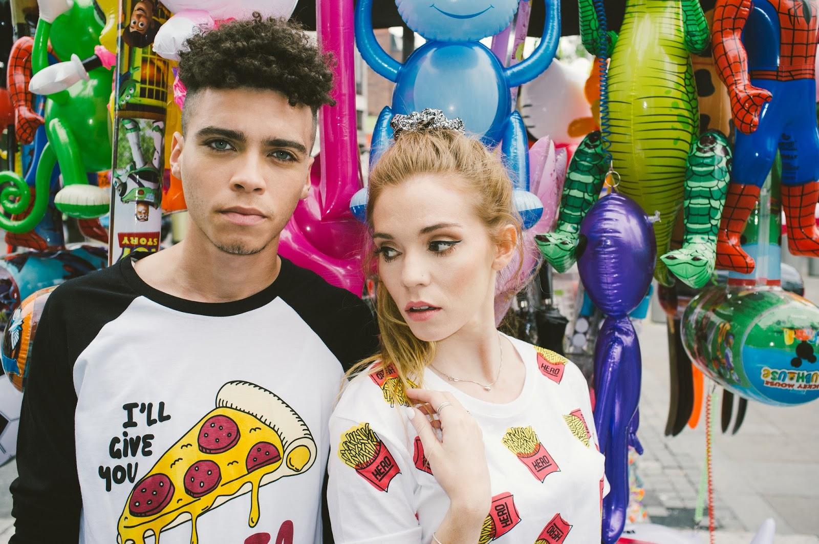 quirky tshirt, fast food fashion trend, french fries tshirt, british fashion label, cool tshirts