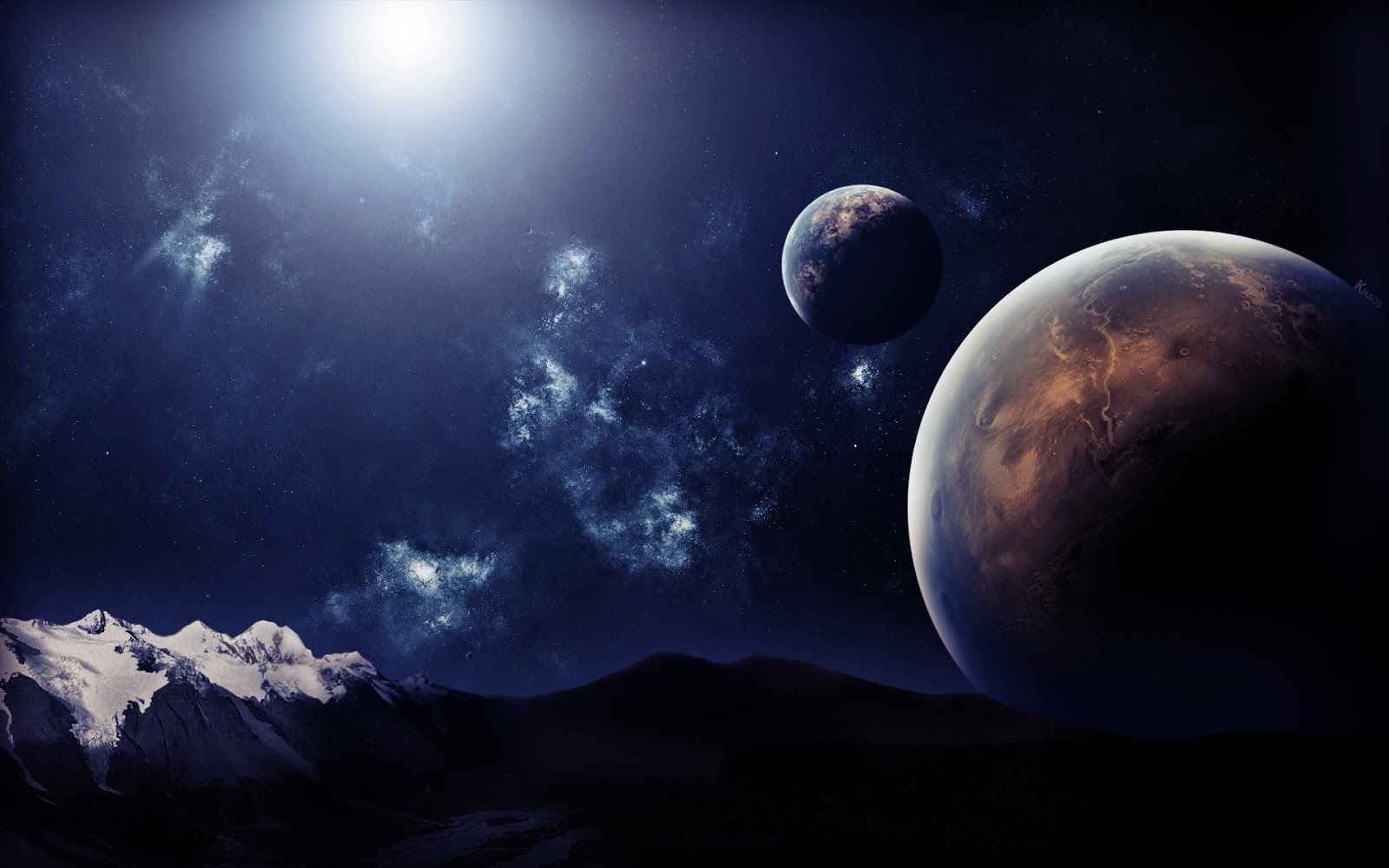 Dreamy Spaces Rendered By Muhammad Taher: 3 Amazing Dreamy Space HD Wallpapers