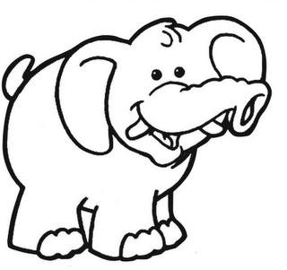 Dibujo elefantes para colorear - Paginas de dibujos
