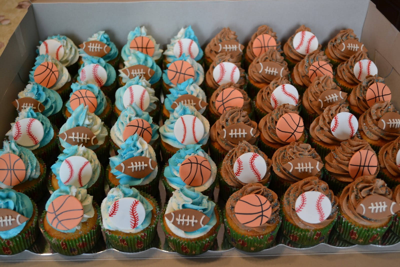 The Crocheted Cupcake Jacks 7th Birthday Cake Cupcakes Sports