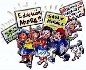 SI A LA EDUCACIÓN NO AL TRABAJO INFANTIL.