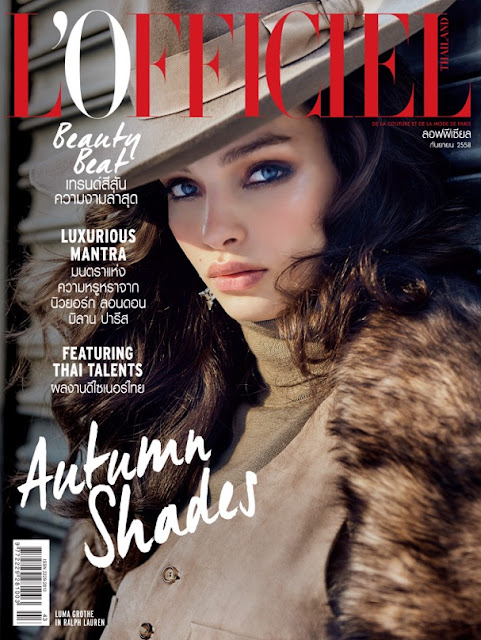 Model @ Luma Grothe - L'Officiel Thailand, September 2015