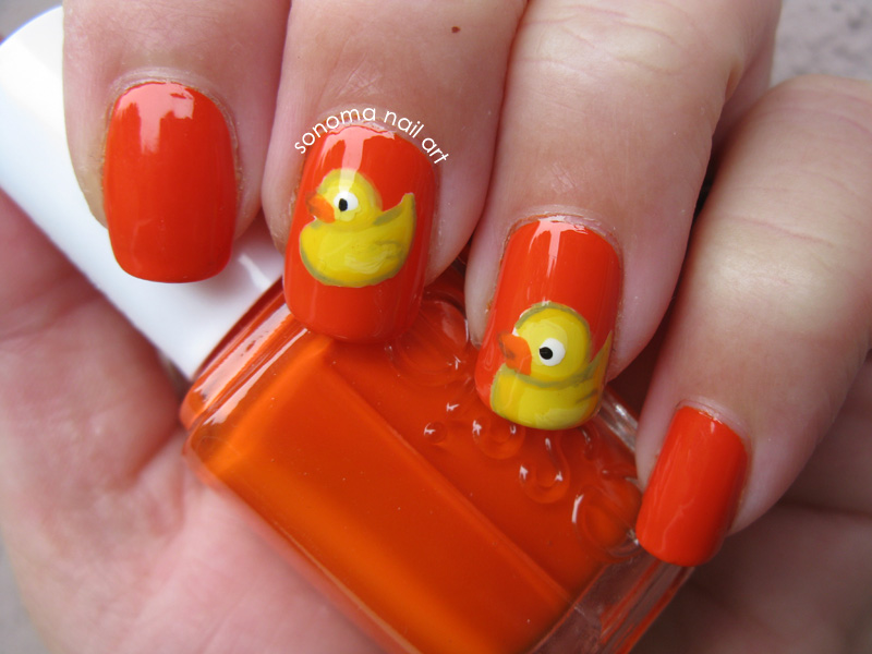 Sonoma Nail Art Rubber Duckie Nails And Giveaway