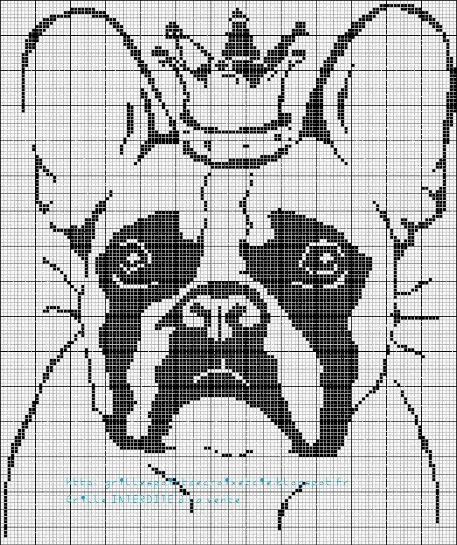 grilles point de croix et cie grilles bulldog. Black Bedroom Furniture Sets. Home Design Ideas