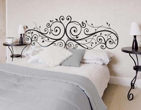 Nice ideas nice consejos decorar con vinilo - Vinilos cabecera cama ...