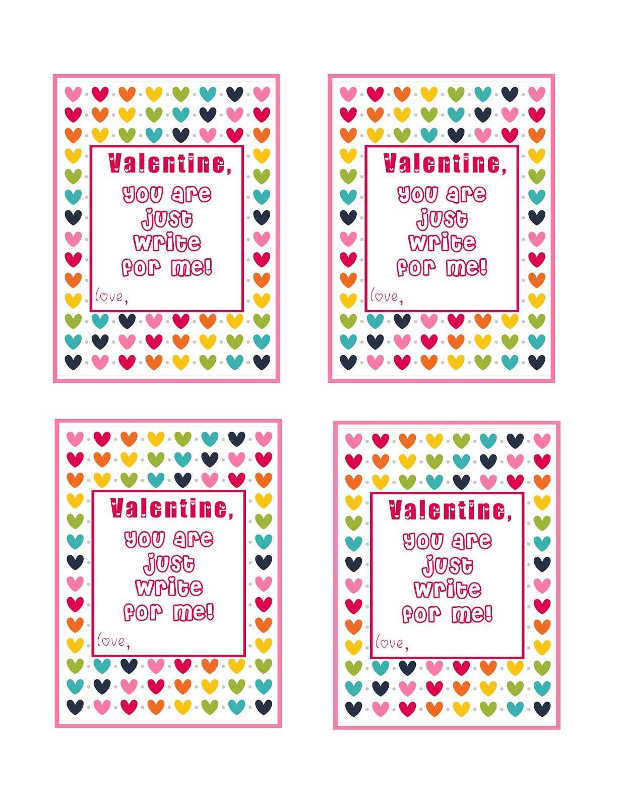 Great Last Minute Valentine Card Ideas! Free Printables ...