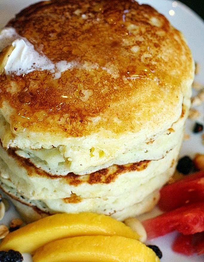 Malcolm's Stack Buttermilk Pancakes Malcolm's Deli
