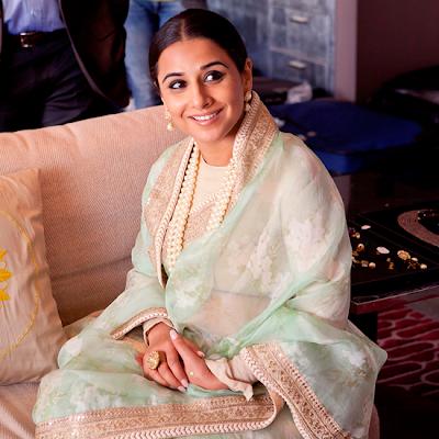 Vidya Balan's behind scene photos #CannesFilmFestival
