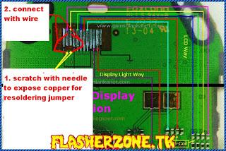 Nokia 1280 nokai 103 lcd ways jumper diagram hardware problem solution