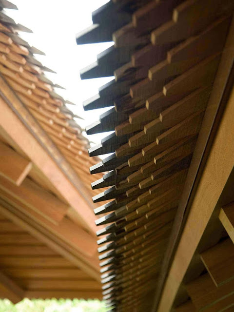 Tropical Wooden Roof