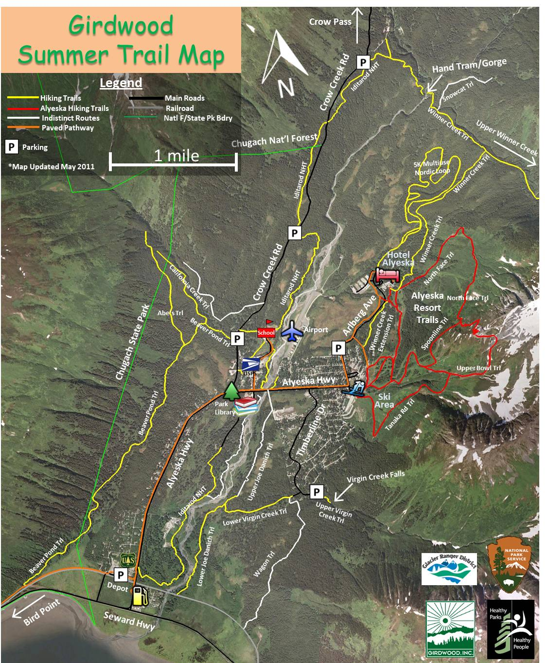 below are the summer and winter maps for a printable version of these maps with trail descriptions as well