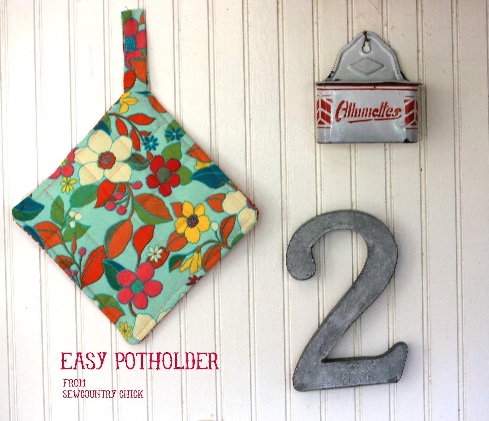 Sewing With Kids: Easy Potholder
