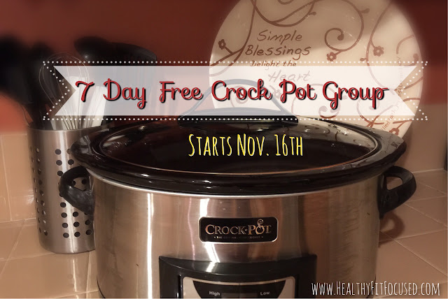 Join me for 7 Days of clean eating crock pot meals! It's the week before Thanksgiving, don't stress about what you need to be cooking before the holidays! Let's help you get healthy BEFORE the Holidays!! *Share *Invite *Be Healthy* www.facebook.com/JulieLittleFitness, https://www.facebook.com/events/480424358806918/