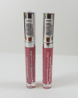 Essence lipgloss in Big Night Out and Nude Kiss