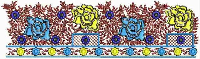 Floral figure designer Lace border