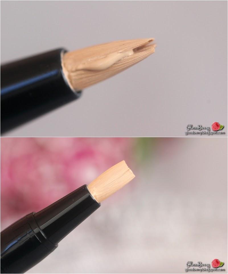 mister light shiseido corrective concealer highlighter pen swatch review glossberry סקירה סווטץ' גיבנשי ג'יבנשי טוש הארה קונסילר מיסטר לייט  בלוג איפור וטיפוח