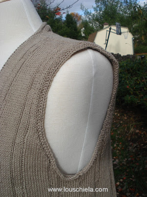 Knitting Plus - Cleveland Shell armhole detail