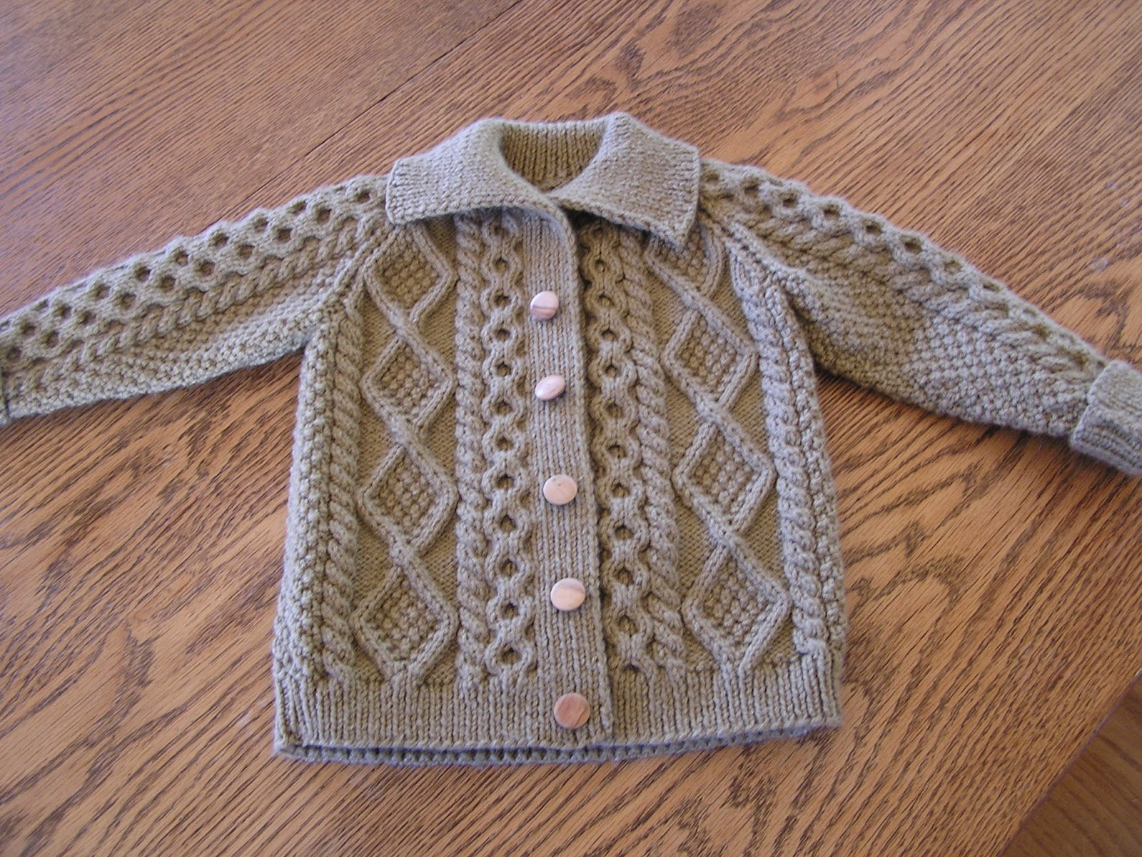 Free Knitting Pattern Baby Cable Cardigan : Cable Cardigan Sweater Knitting Pattern - Long Sweater Jacket