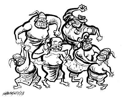 The duty of Burmese Regime aka Clean Government (Cartoon Saw Ngo) 