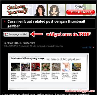 Cara membuat dan menambahkan widget save to PDF pada blog