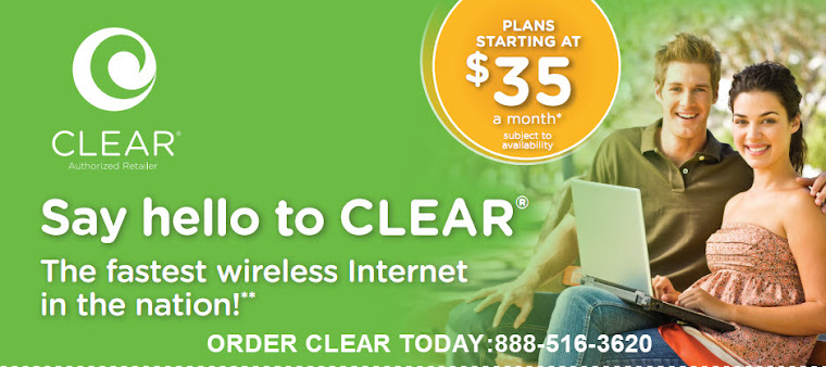 CLEAR 4G IWIRELESS INTERNET 888-516-3620