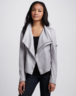 SW3 Bespoke Queensway gray faux leather jacket