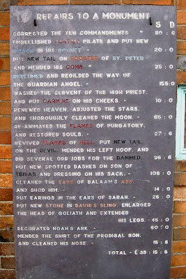 Correcting the Ten Commandments, Great Bedwyn, Stone Museum
