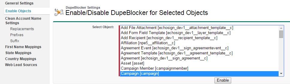 Sfdc 3 16 Dupe Blocker Settings In Salesforce