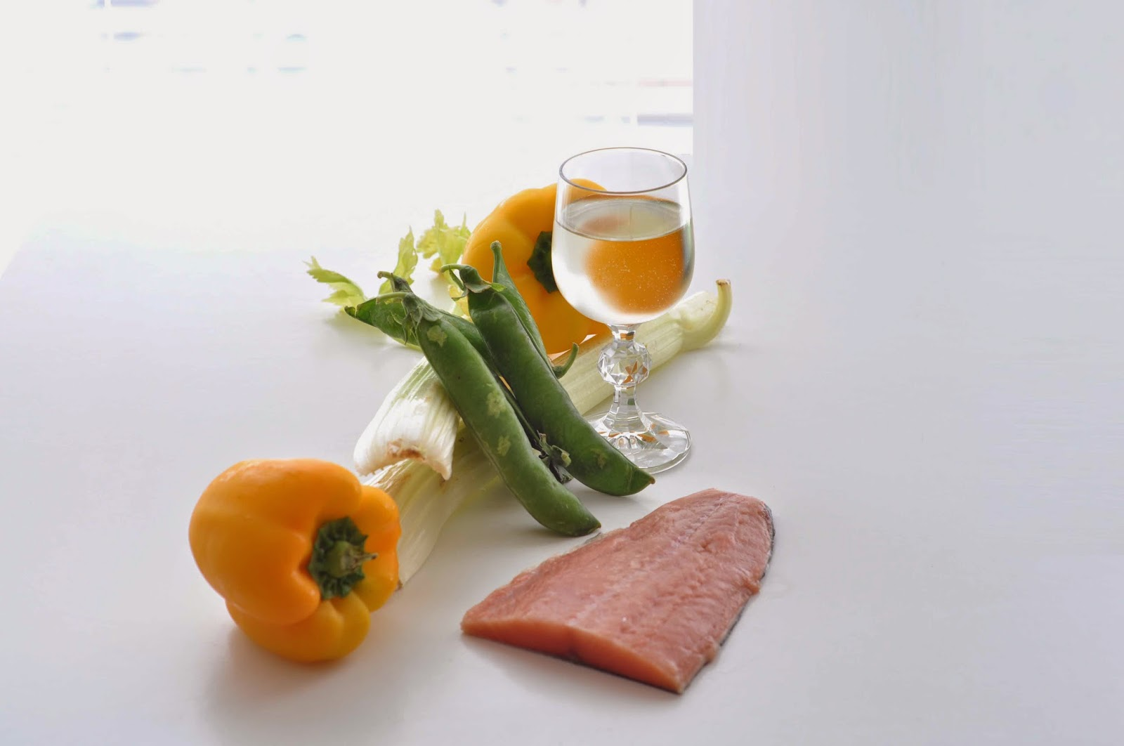 Fillet of Salmon with Yellow Pepper and Celery Jus ~ Simple Food