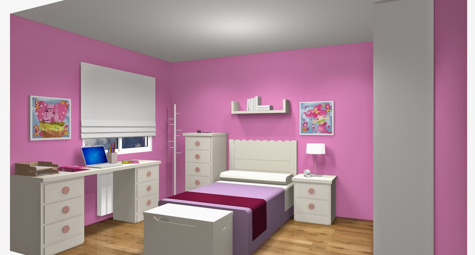 Dise o de cuartos o dormitorios juveniles for Muebles para habitaciones juveniles