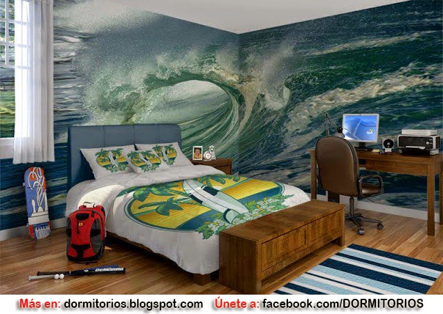 Dormitorio surf for Decoracion de surf