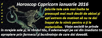 Horoscop Capricorn ianuarie 2016