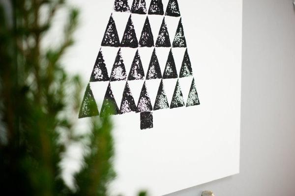 Selbstgemachte Wanddeko für Weihnachten