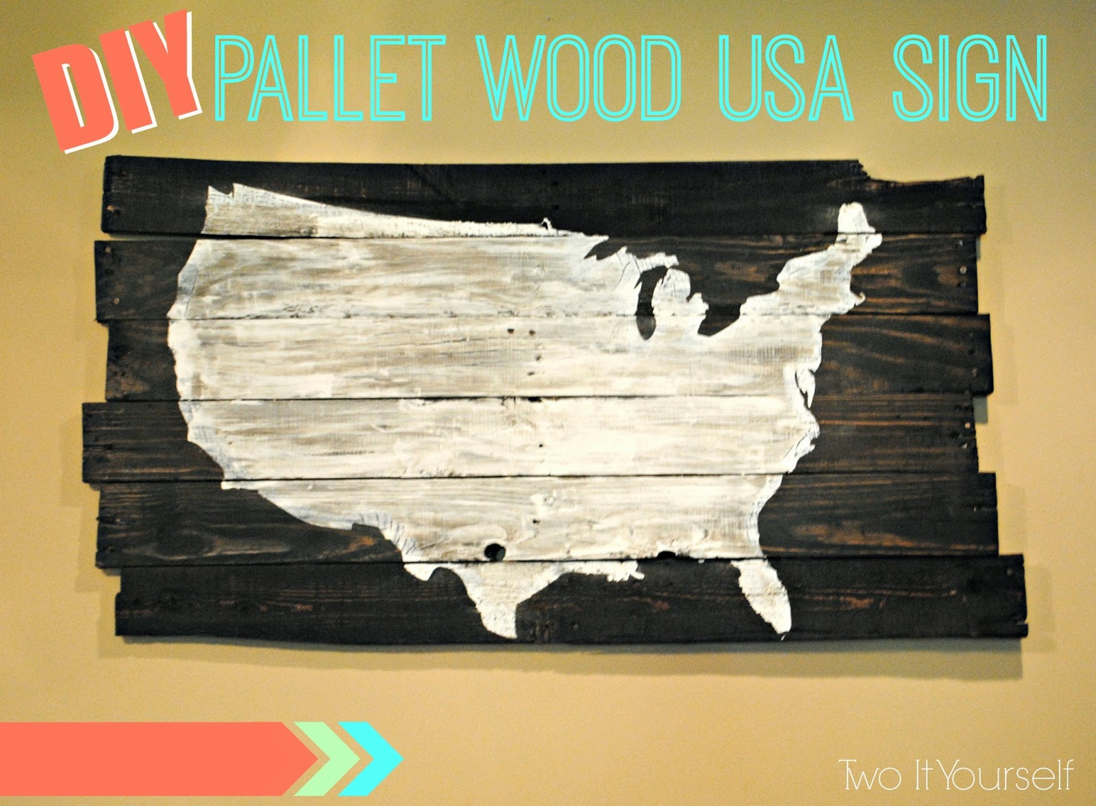 Two it yourself oversized pallet wood usa sign and a giveaway its always a good day at two it yourself when i have an awesome and easy knockoff project for you and a giveaway solutioingenieria Images