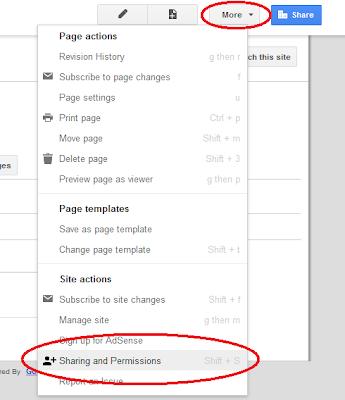 Set sites permissions