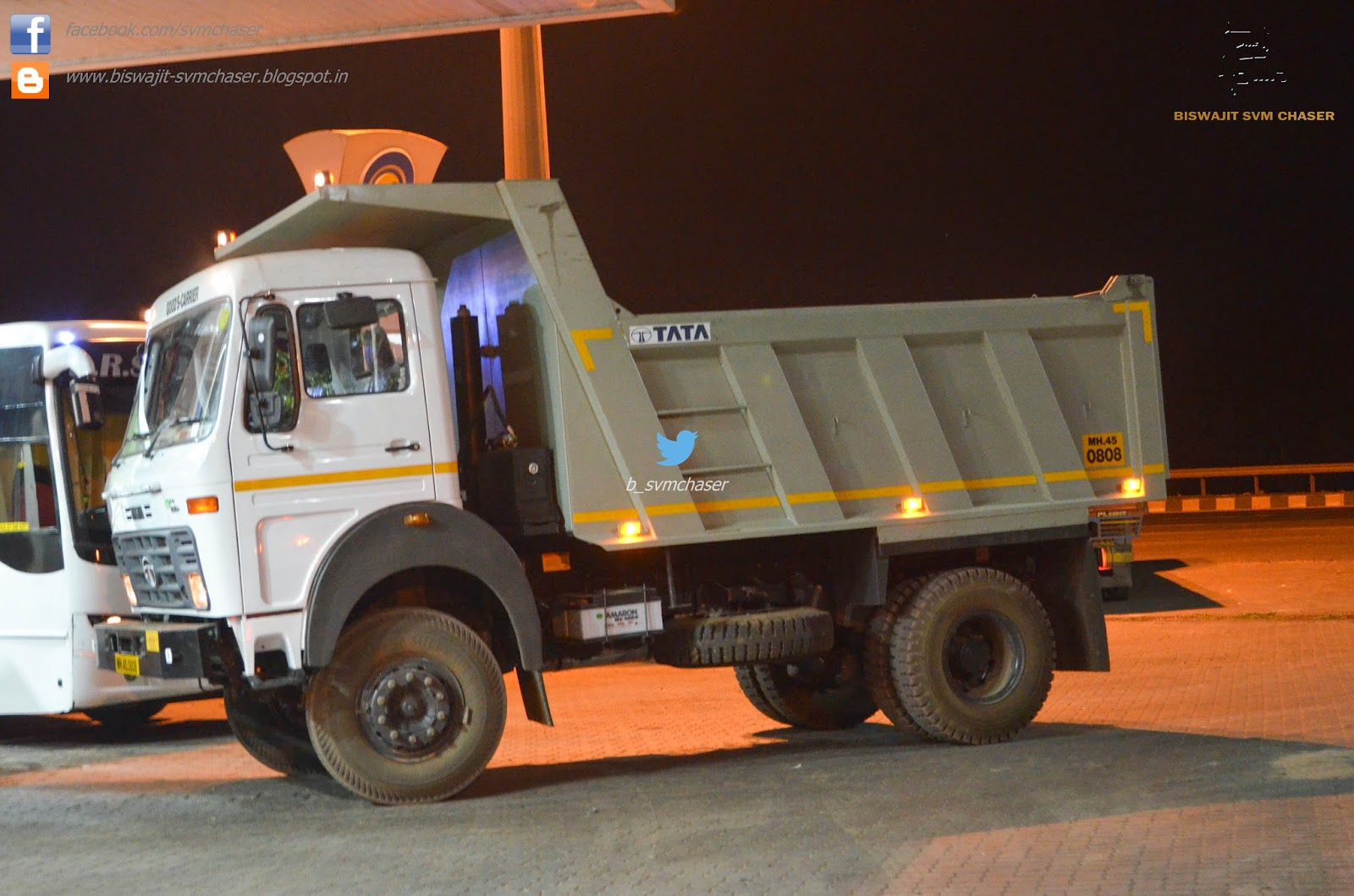 Tata Tippers Refueling At Night In Belgaum Biswajit Svm