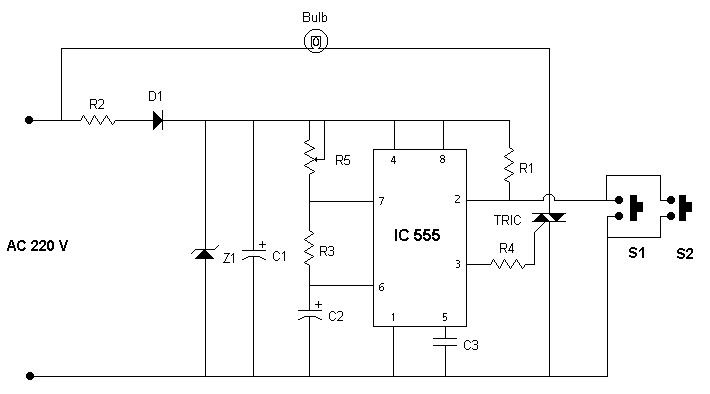 automatic cut off staircase light circuit