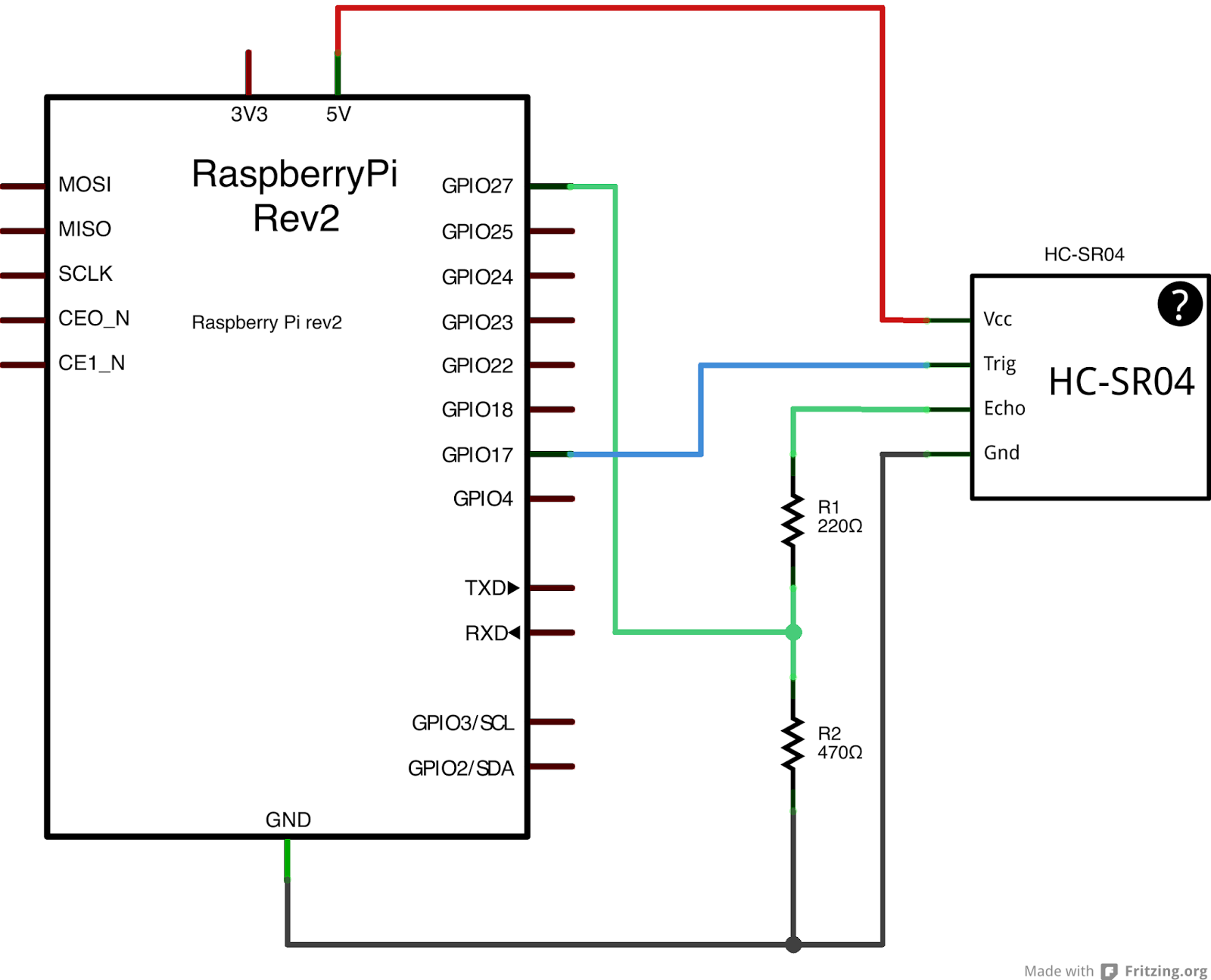 electronics and software projects  distance sensor working on a raspberry pi