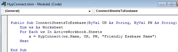 Creating a VBA Login Box for Smart View | Effective Essbase