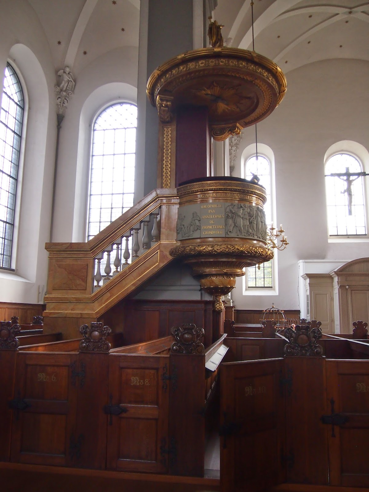 the interior of our saviors church in copenhagen
