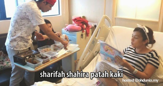 Sharifah Shahira patah kaki kanannya akibat terjatuh dari basikal
