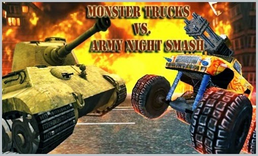 Monster Trucks vs Army Night Smash for iPhone